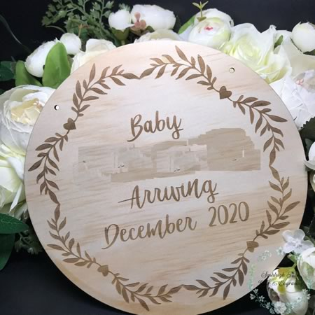 Baby Announcement Disc
