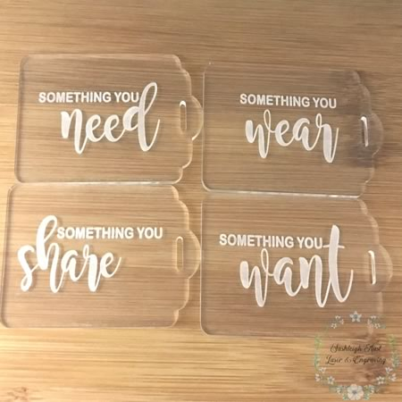 Gift Tags - Something You Want, Need, Share Wear