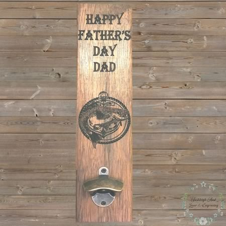 Fathers Day Board with Bottle Opener