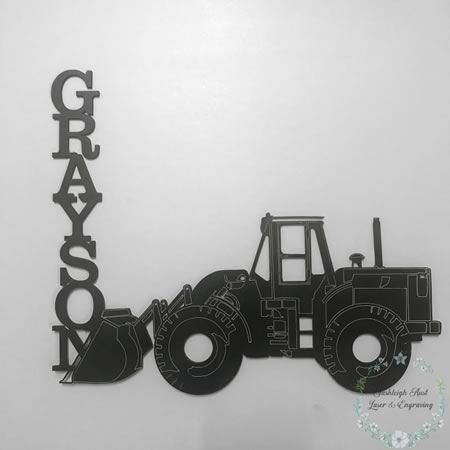 Tractor with Name Wall/Door Sign