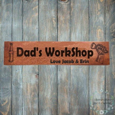 Dads Workshop Sign
