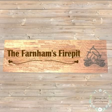 Family Name Firepit Sign