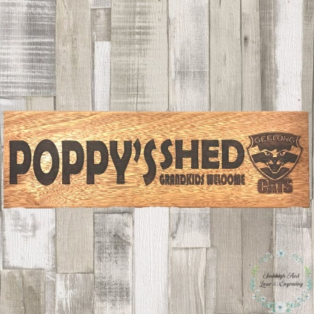 Poppys Shed Sign