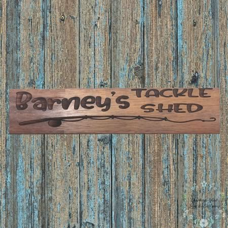 Tackle Shed Sign