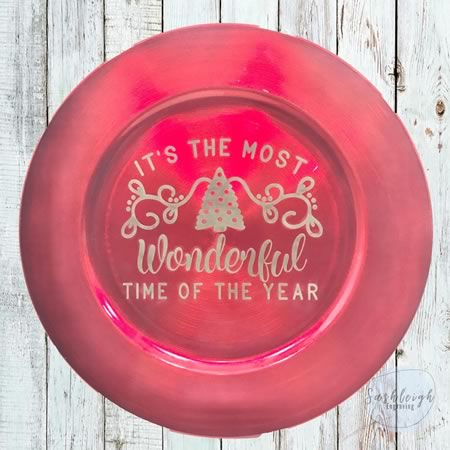 Christmas Plate - The Most Wonderful Time of the Year Christmas Plate