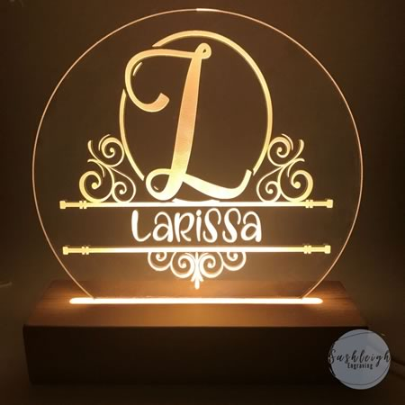 Initial and Name LED Night Light